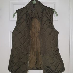 Quilted Khaki Green Vest
